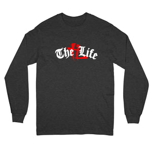 """TL Old English Logo"" Long Sleeve Charcoal"