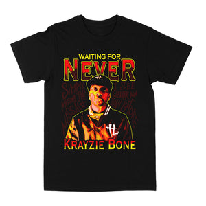"""Waiting For Never"" Tee Black"