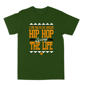 "One Nation Under Hip Hop ""Olive"" Tee"
