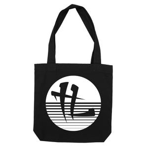 "TL Striped Logo ""Tote Bag"" Black"