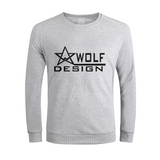 wolf design star Men's Graphic Sweatshirt