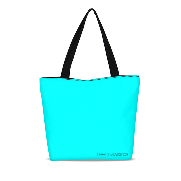 highlighter blue Canvas Zip Tote