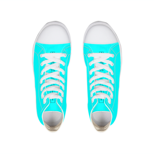 highlighter blue Hightop Canvas Shoe