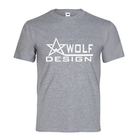 wolf design logo white Men's Graphic Tee