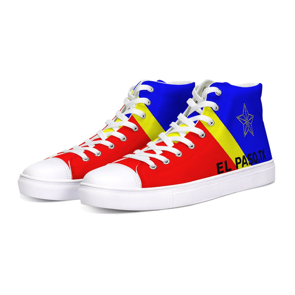 EL PASO YELLOW/BLUE/RED Hightop Canvas Shoe