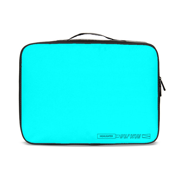 highlighter blue Jetsetter Travel Case