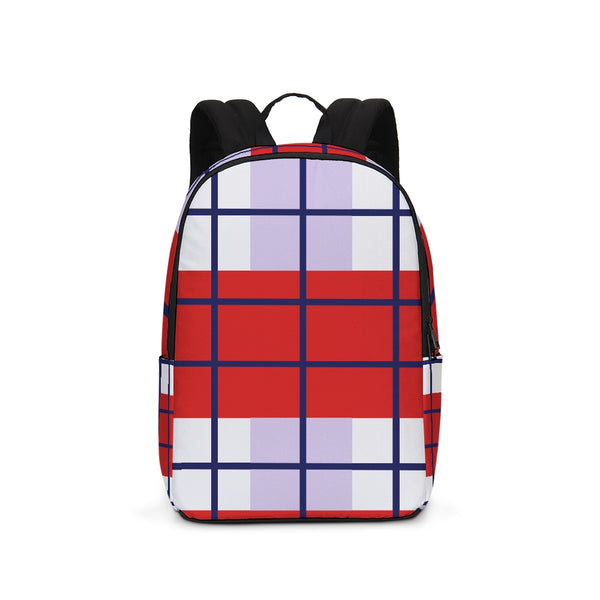 plaided Large Backpack