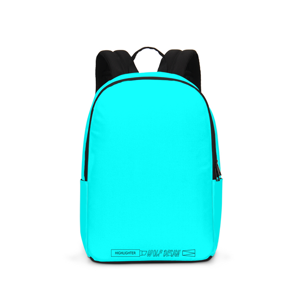 highlighter blue Large Backpack