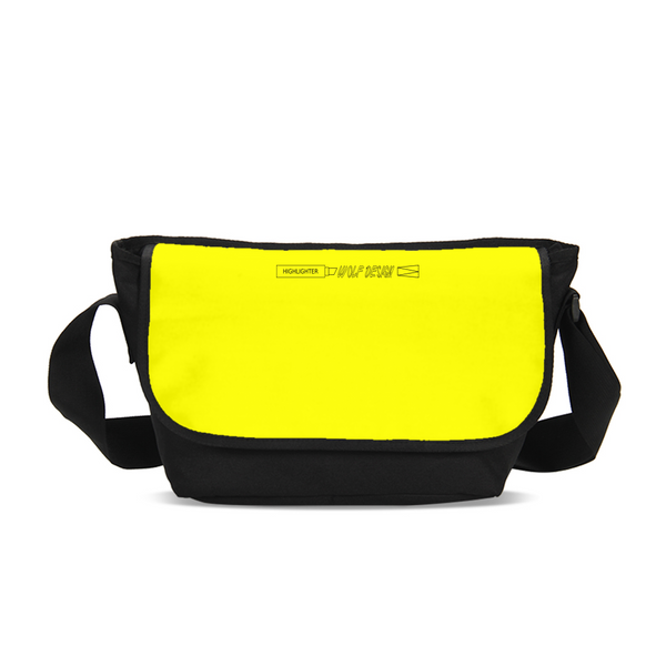 highlighter yellow Messenger Bag