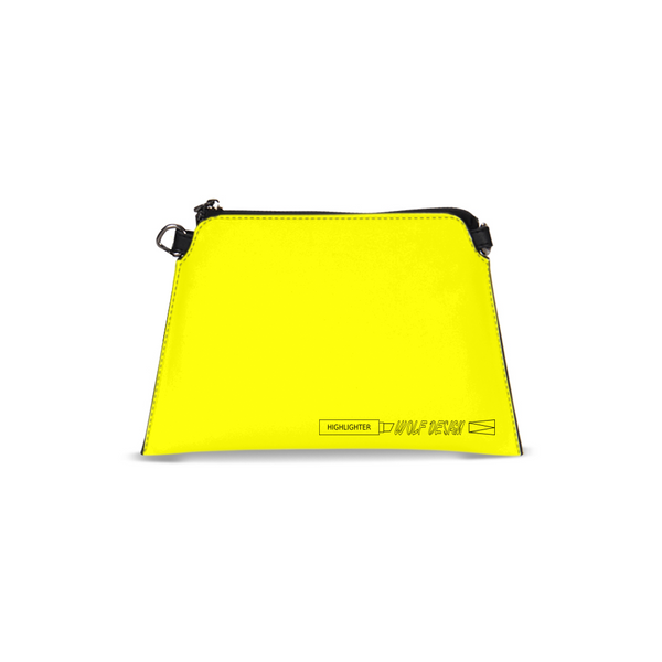 highlighter yellow Wristlet