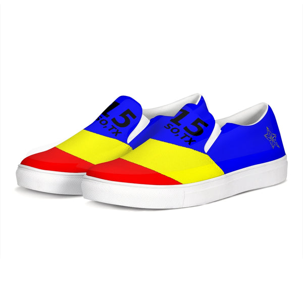 EL PASO YELLOW/BLUE/RED Slip-On Canvas Shoe