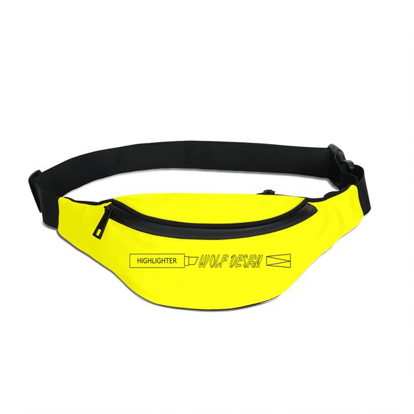 highlighter yellow Crossbody Sling Bag