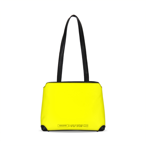 highlighter yellow Shoulder Bag