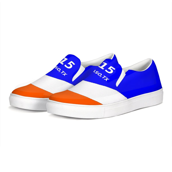 EL PASO ORANGE/BLUE/WHITE Slip-On Canvas Shoe