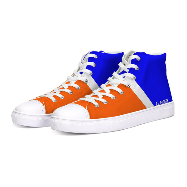 EL PASO ORANGE/BLUE/WHITE Hightop Canvas Shoe