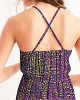 Color purple squares dress