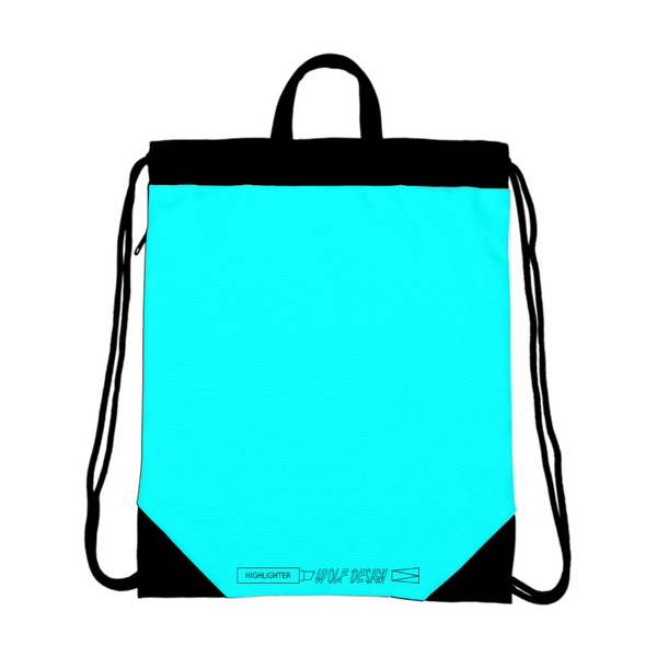 highlighter blue Canvas Drawstring Bag