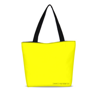 highlighter yellow Canvas Zip Tote