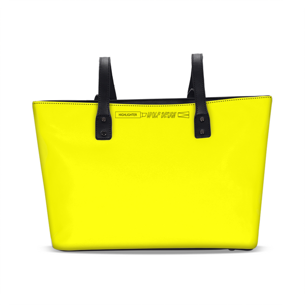 highlighter yellow Stylish Tote