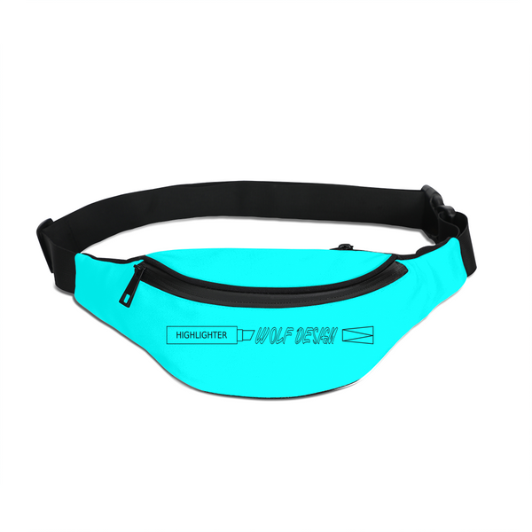highlighter blue Crossbody Sling Bag