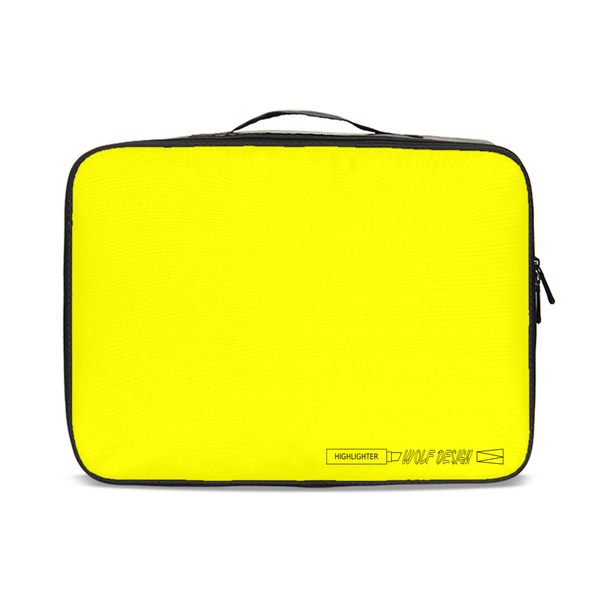 highlighter yellow Jetsetter Travel Case