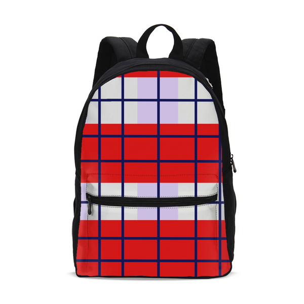 plaided Small Canvas Backpack