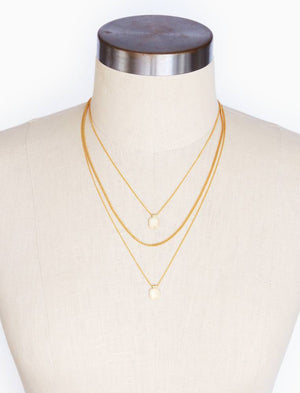 Eddie Triple Strand Necklace by Thirty One Bits