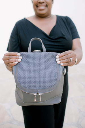 Grey Quinn Mini Backpack