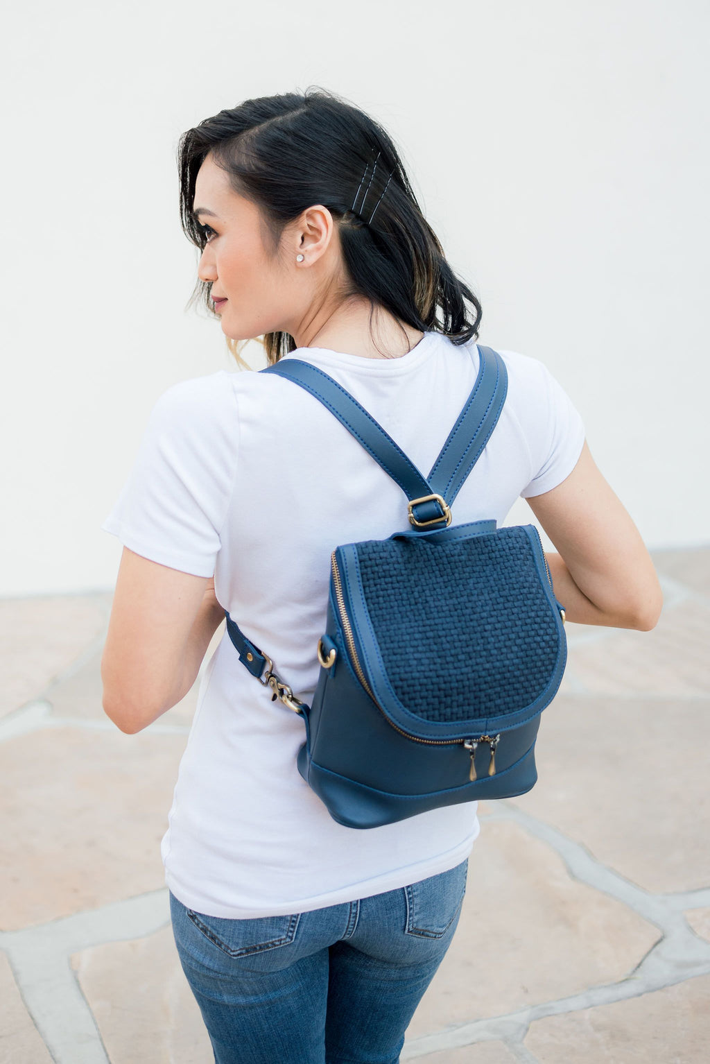 Blue Quinn Mini Backpack