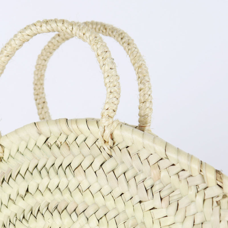 San Diego Round Straw Bag by Socco Designs