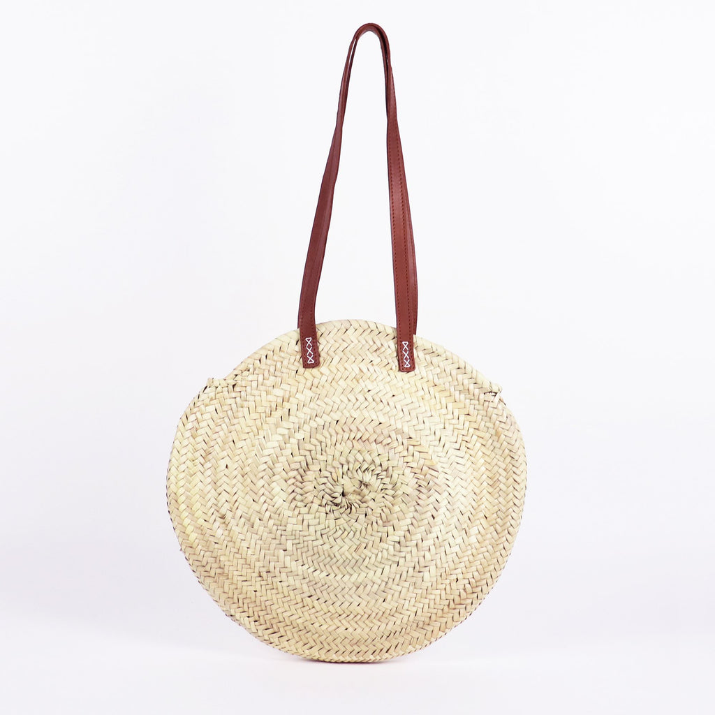 Tulum Round Straw Bag by Socco Designs