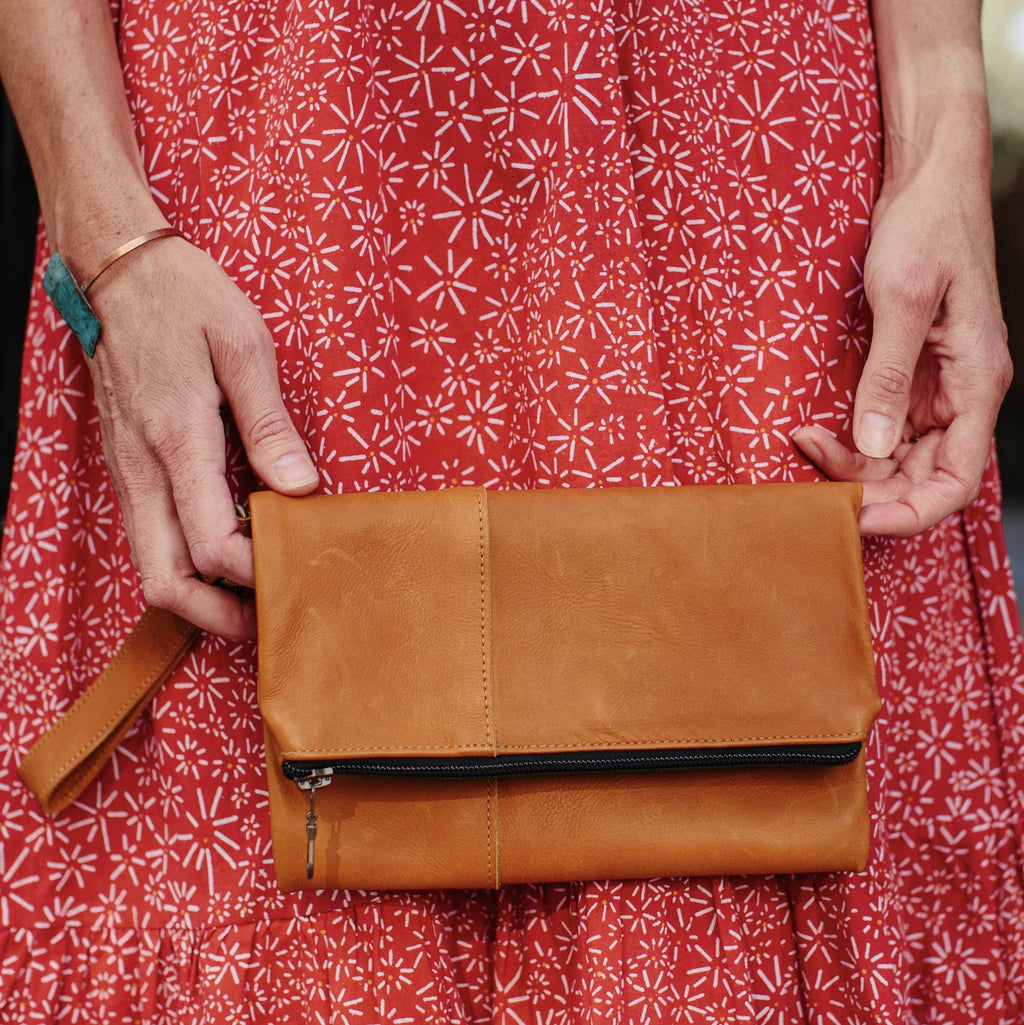 Aymara Leather Clutch