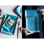 assiette-japonaise-bleue-ciel-rectangulaire-traditionnelle