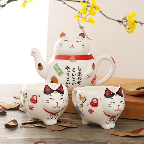 service-a-the-japonais-chat-kawaii-porcelaine