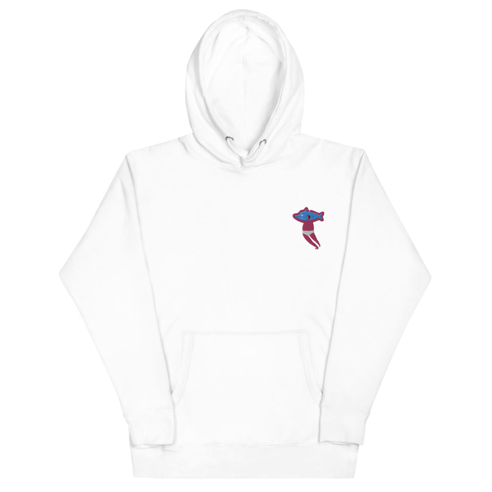 Embroidered Dolphin Man Embroidered Hoodie