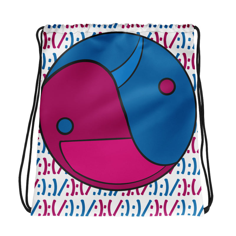 Sad/Happy Drawstring bag