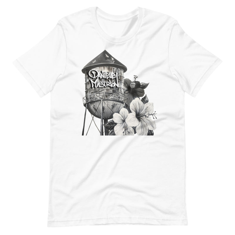 Black and White Tower Unisex T-Shirt