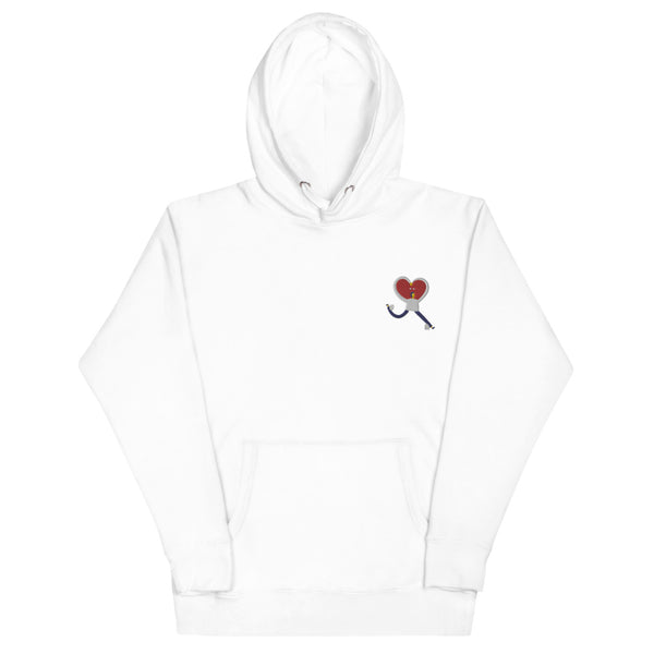 Embroidered Running Love Unisex Hoodie