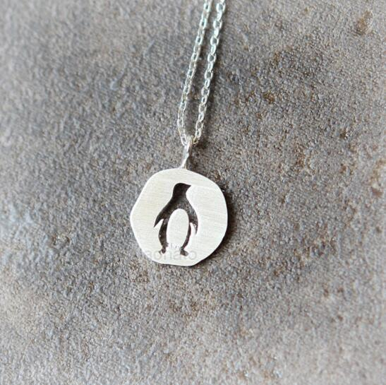 Silver Penguin Necklace