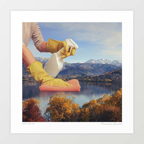 Deep clean lake Art Print