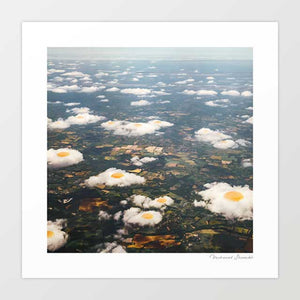 Eggy clouds Art Print