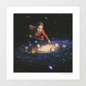 Space pool Art Print