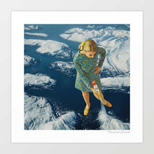 Load image into Gallery viewer, Spraying snow on the mountains Art Print