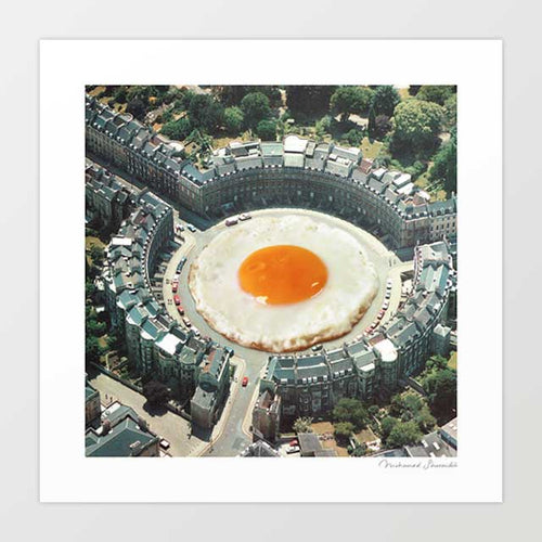 Take the 2nd eggxit Art Print