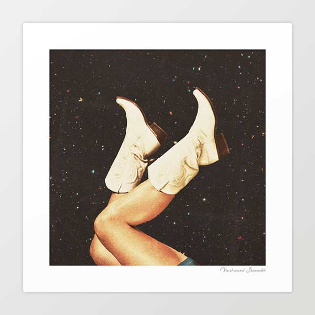 These Boots - Space Art Print