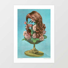 Load image into Gallery viewer, Floral portrait Art Print
