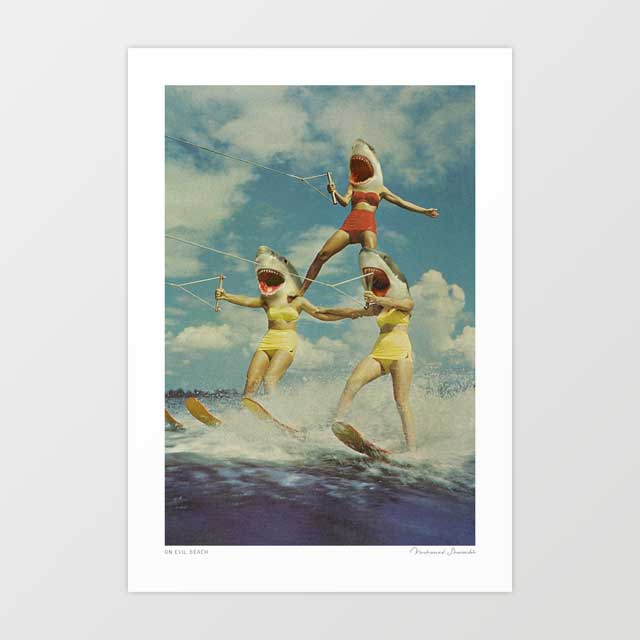 On evil beach Art Print
