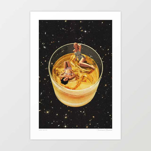 Whisky besties Art Print