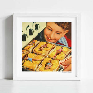 Girls on toast Art Print