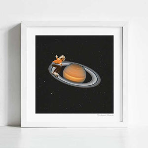 Saturn skating Art Print